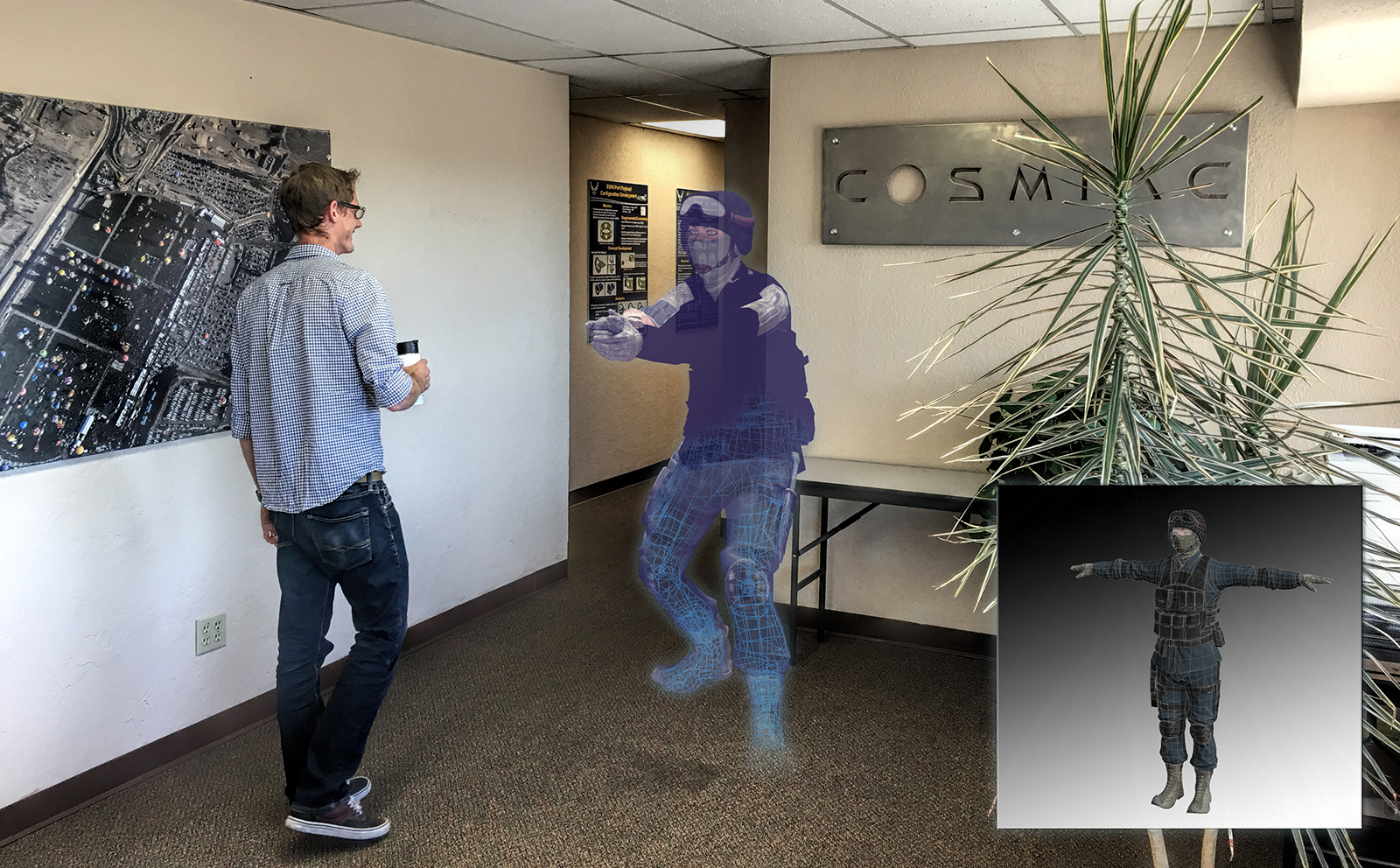 image virtual reality in the cosmiac office
